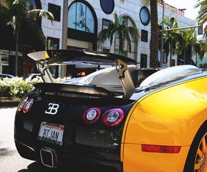 bugatti and yellow and black image
