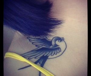 tattoo, swallow, and Harry Styles image