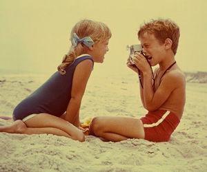 beach, kids, and boy image