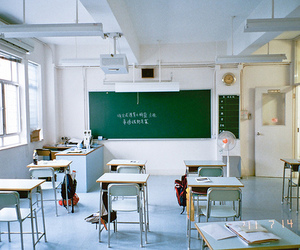 classroom, japan, and school image