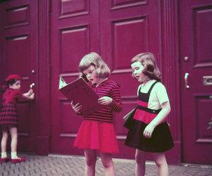 art, girl, and kids image