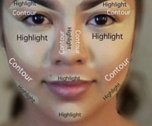 makeup, contour, and make up image
