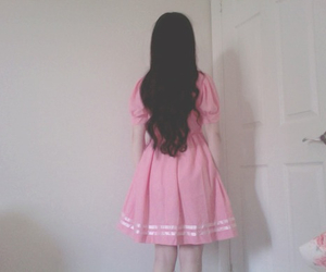 pink, girl, and pale image