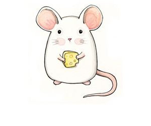mouse, cute, and cheese image