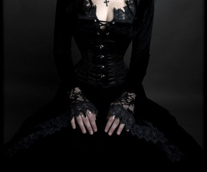gothic, goth, and dress image