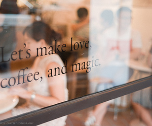 article, quote, and coffee shop image
