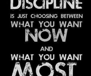 discipline, quotes, and motivation image