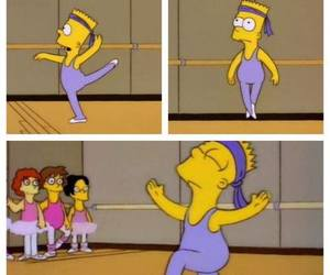 ballet, bart, and funny image