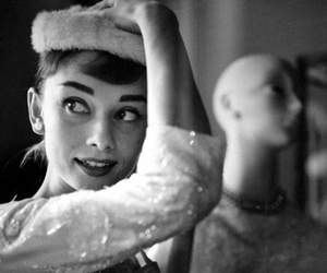 audrey hepburn, retro, and black and white image
