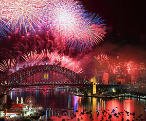 city, cool, and fireworks image