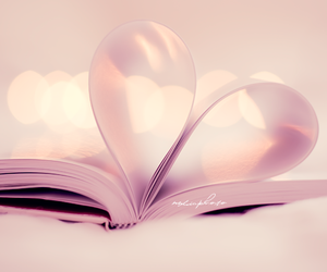 book, heart, and photography image