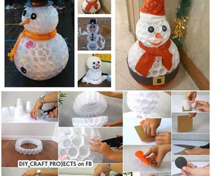 snowman, tutorial, and christmas image