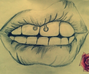 <3, draw, and full lips image