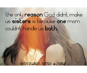 sisters and quote image