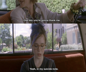 suicide, whip it, and ellen page image