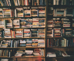 books, library, and time image