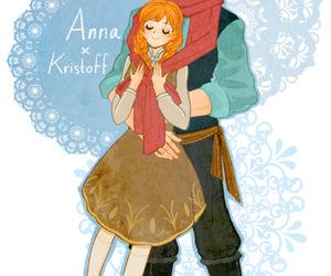 anna, kristoff, and disney image
