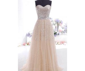 dress, white, and glitter image