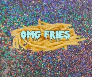 fries, grunge, and OMG image