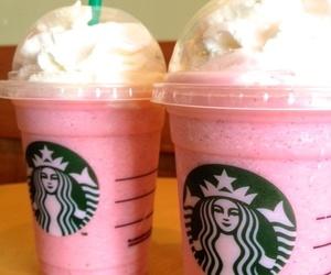 starbucks, pink, and food image