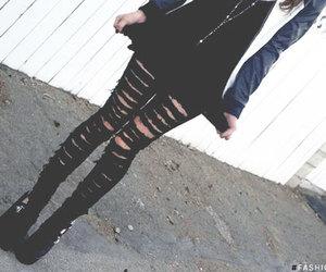 black, fashion, and brunette image