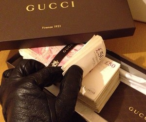 money, gucci, and luxury image