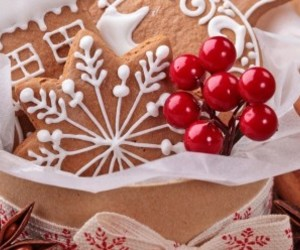 biscotti, biscuits, and christmas image