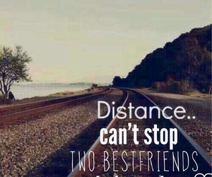 distance, friends, and best friends image