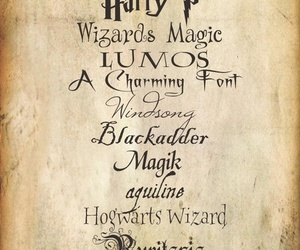 harry potter, fonts, and magic image