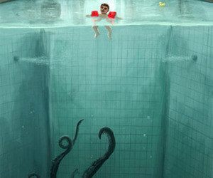 pool, art, and child image