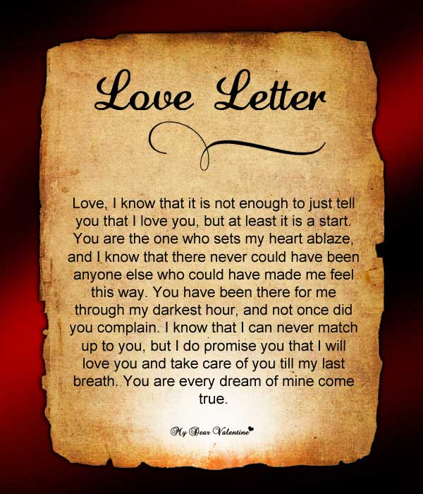 Send Him This Letter Who Has Set Your Heart On Fire