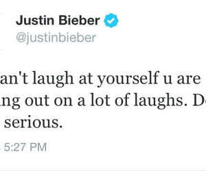 laugh, tweets, and justin bieber image