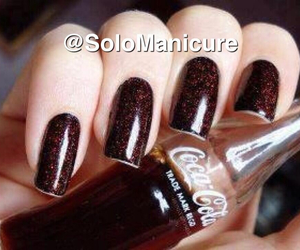 beauty, brown, and art nails image