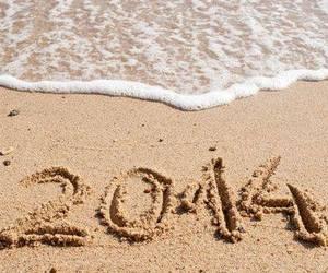 2014, beach, and year image