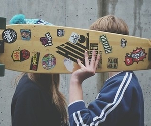 couple, skate, and cute image