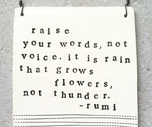 quote, rain, and words image