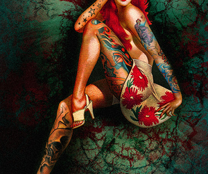 tattoo, Pin Up, and woman image