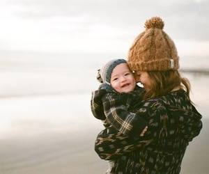 baby, mommy, and love image
