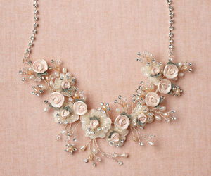 flowers and necklace image