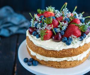 berries, cherry, and cake image