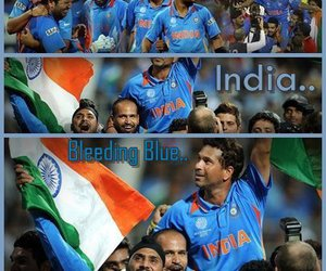 bleed, blue, and cricket image