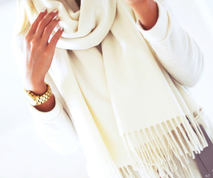 glamour, scarf, and white image
