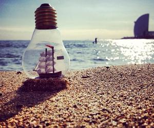 art, beach, and ocean image
