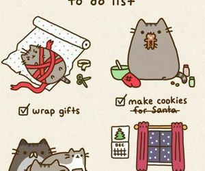 christmas, cat, and pusheen image