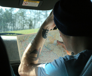 boy and map image