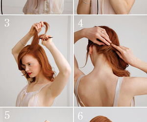 curl, hair, and hairdo image