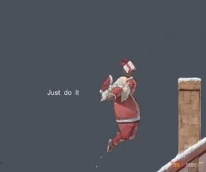 nike, santa, and christmas image