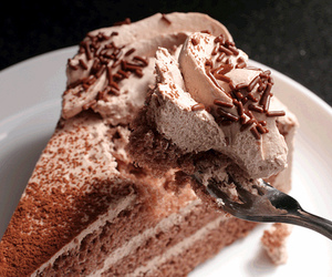 food, chocolate, and cake image