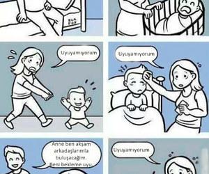 mom, mother, and sleep image