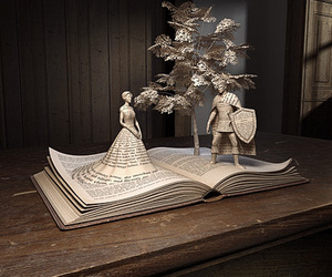 art, book, and knight image